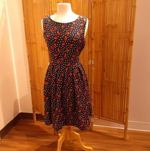 LA Soul all over strawberry print dress